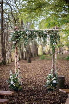 52 Amazing Ways to Set Off a Rustic Spring Wedding forest wedding arch. 52 Amazing Ways to Set Off a Rustic Spring Wedding forest wedding arch. Simple Wedding Arch, Wedding Arch Flowers, Wedding Ceremony Arch, Simple Weddings, Wedding Arbors, Wedding Greenery, Ceremony Signs, Wedding Ideas, Outdoor Ceremony