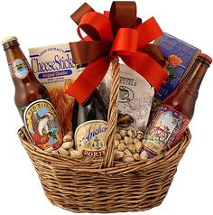 Shop our large selection of beer gift baskets perfect for birthdays, holidays or any occasion. Craft beer baskets filled with nuts, pretzels, chips and salsa. Fundraiser Baskets, Raffle Baskets, Valentine's Day Gift Baskets, Wine Country Gift Baskets, Beer Cap Crafts, Craft Beer, Beer Gifts, Food Gifts, Beer Basket