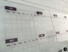 frosted, construction, job board, calendar, monthly planner, planner, grid, whiteboard, logo