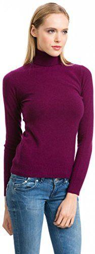 Women's Plum Roll Neck Jumper - 100% Cashmere - Citizen Cashmere, M - http://cashmerejumpers.pesonashop.co.uk/womens-plum-roll-neck-jumper-100-cashmere-citizen-cashmere-m/
