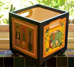Hand painted box  By Varda Artisticolors
