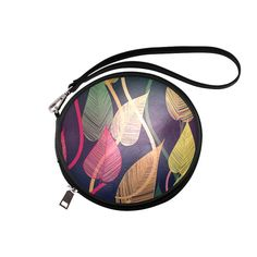 Colorful Autumn Leaves Round Makeup Bag (Model 1625)