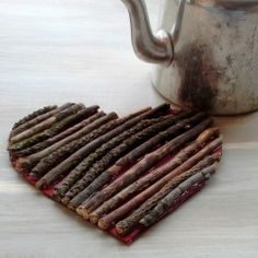 Cute DIY Camp Activity- Heart Made from twigs!! #camp #crafts