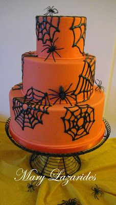 Pink Little Cake: Halloween Series... Day 25 SugarVeil Spider Web Cake