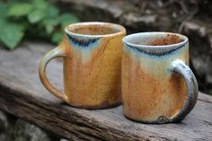 Yellow soda fired mugs made during my apprenticeship at Maze Hill Pottery with Lisa Hammond. Titanium slip reduction fired for thirty hours with sodium vapour. Ceramic Cups, Ceramic Pottery, Lisa Hammond, Moscow Mule Mugs, Maze, Still Life, Soda, Coffee Mugs, Objects