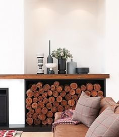 Interior Firewood Storage | Atticmag | Kitchens, Bathrooms, Interior Design