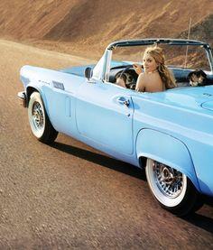 tiffany blue vintage car