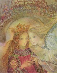 Beautiful, ethereal, mystical, spiritual and visionary art by Sulamith Wulfing an illustrator from the golden age Photo D Art, Fairytale Art, Visionary Art, Religious Art, Unique Art, Painting & Drawing, Illustrators, Dragons, Fantasy Art
