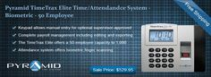 #Pyramid #TimeTrax Elite #Time/#Attendance System - #Biometric - 50 Employee  Essential for #time #keeping. Grab our #bestseller at #affordable price of $529.95 with #freeshipping.