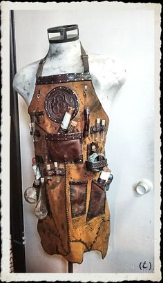 Leather Apron  Alchemist  Steampunk by ILeatherCraft on Etsy