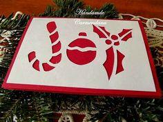 Felicitare decupata Craciun (handmade christmas card)