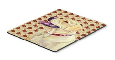Labrador Fall Leaves Portrait Mouse Pad, Hot Pad or Trivet