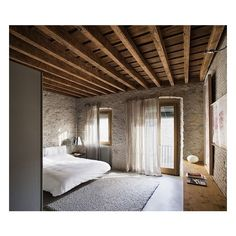 Modern Apartment with Medieval Style ❤ liked on Polyvore featuring backgrounds and empty rooms