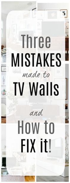 Three MISTAKES made to TV Walls and How To FIX it! #tvwall