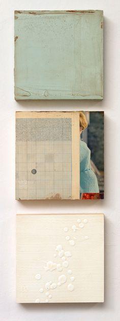 Jane Hambleton : write it down, detail. Mixed media on panel, oils, assemblage.