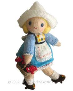 Lovely Dutch Girly Doll PDF Email Knit PATTERN. $4.50, via Etsy.