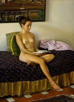 Richard Maury // Seated nude, 2000