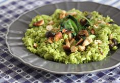 Risotto z medvedieho cesnaku s hríbikmi, fotogaléria 1 / Risotto, Guacamole, Food And Drink, Mexican, Ethnic Recipes, Kitchens, Mexicans