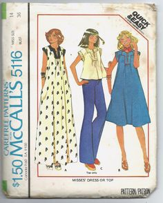 Uncut Misses Size 14 Vintage 1970s Sewing Pattern by ItsSewVintage