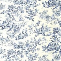 Maybe this fabric for window seat cushion and accent pillows on a light tan couch. REIMS BLUE