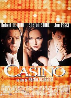 """Casino"" directed by Martin Scorsese, starring Robert De Niro, Sharon Stone and Joe Pesci. Martin Scorsese, James D'arcy, Casino Party Decorations, Casino Theme Parties, Sharon Stone, Casino Royale, Film Casino, Casino Games, Mafia"