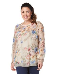 Silk top with lace by Froccella