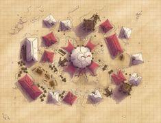 Desert Royal Army Encampment by Caeora Maps: