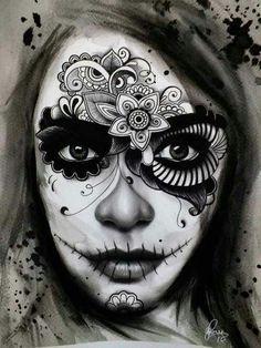 Sugar skull women makeup inspiration on Pinterest | 57 Pins