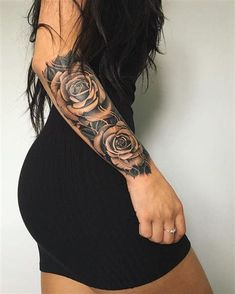 132 Bangin' (and Beautiful) Tattoos - Sexy Tattoos For Women Dope Tattoos, Badass Tattoos, Great Tattoos, Body Art Tattoos, Girl Tattoos, Woman Tattoos, Tatoos, Thigh Tattoos Girls, Small Tattoos