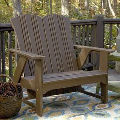 Uwharrie Carolina Preserves Garden Bench Finish: Twilight Blue Wash