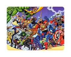 Awesome Superhero Mouse Pad Marvel The Avengers Everyone