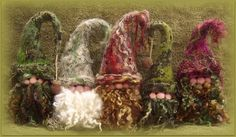 Needlefelted gnomes by Penny Pavl