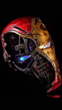 Iron Man Mark 50 Mask iPhone Wallpaper