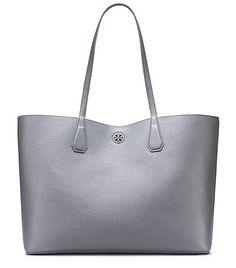 grey tory burch tote bag