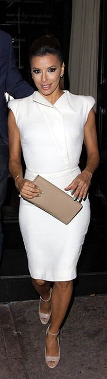 Eva Longoria: Dress – Antonio Berardi  Purse – Yves Saint Laurent  Shoes – Brian Atwood