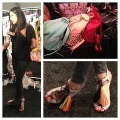 Rebecca Minkoff backstage -- loved her footwear choice today !! #nyfw