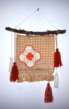 Textile Wall Hanging,Vintage Crochet Decoration, Hippie Decor, Boho Wall  Decor,Orange Beige Wall Hanging,Bohemian Wall Decor