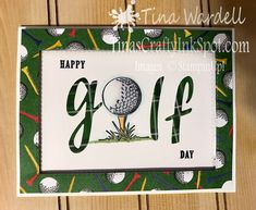 Clubhouse Golf Day - Stampin Up 2020 Masculine Birthday Cards, Masculine Cards, Golf Birthday Cards, Golf Cards, Stampinup, Stampin Up Christmas, Stamping Up Cards, Fathers Day Cards, Card Tags