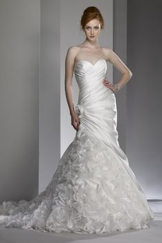 Liz Fields Wedding Dresses Style 9600 and straps can be added with this designer!