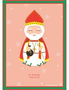 St. Nicholas printable, free Catholic printables! Great for homeschooling, RE or just for fun! Lots of other Saints and the Virgin Mary from Around the World available