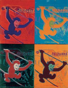 """""""Art Print of Four Monkeys"""" - Andy Warhol posters and prints available at Barewalls.com"""