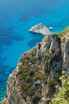 Rugged coastline of north west Corfu, Krini, Peloponnese Western Greece, Ionian Island_ Greece