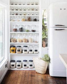 Open Shelving for Kitchen Wall. Open Shelving for Kitchen Wall. 65 Ideas Using Open Kitchen Wall Shelves Shelterness Open Kitchen Cabinets, Kitchen Wall Shelves, Wall Pantry, Narrow Kitchen, Wood Shelves, Kitchen Without Wall Cabinets, Kitchen Storage, Kitchen Shelf Design, Kitchen Pantry