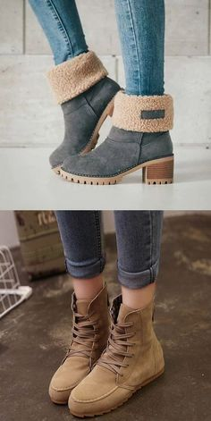 15 Awesome Winter Boots 2018 That Look Warm And Comfort - Fazhion Fall Winter Outfits, Winter Wear, Autumn Winter Fashion, Ladies Winter Boots, Looks Style, My Style, Hijab Style, Cute Boots, Shoe Closet