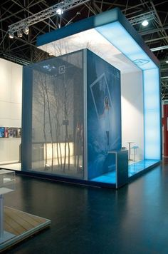 POD exhibitions created an exhibition stand design with a huge TFS display, combined with an incredibly effective semi-transparent fabric to one side