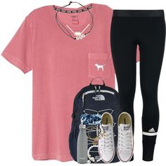 A fashion look from August 2016 featuring adidas, Converse sneakers and The North Face backpacks. Browse and shop related looks.