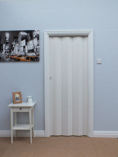 Akkord 77 Folding Door - White Internal Folding Doors, Mirror, Furniture, Home Decor, Decoration Home, Room Decor, Mirrors, Home Furnishings, Home Interior Design