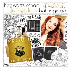 """""""Hogwarts School of Witchcraft and Wizardry // A Battle Group - Audition"""" by dashingpirate ❤ liked on Polyvore featuring art and hsowwbg"""