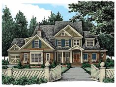 Eplans New American House Plan - Four Bedroom New American - 4024 Square Feet and 4 Bedrooms from Eplans - House Plan Code HWEPL13240