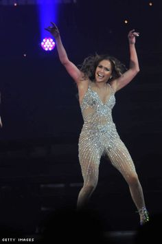 Haute: Jennifer Lopez spotted in couture crystal jumpsuit